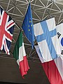""" 12 - ITALY - Fiera di Bologna - Flags of european union and Italy and more contries.jpg"