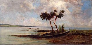 Beached Canoe, Hilo Bay