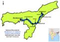 (Guwahati - Jorhat) Janshatabdi Express route map.png