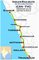 (Kannur - Trivandrum) Janshatabdi Express Route map.jpg