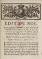 Édit portant suppression du droit de mainmorte, et de la servitude personnelle, dans les domaines du Roi, 1779.png