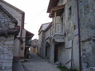 Karst Plateau (Italy-Slovenia) - Typical rural Karst houses in Štanjel (municipality of Komen), Slovenia