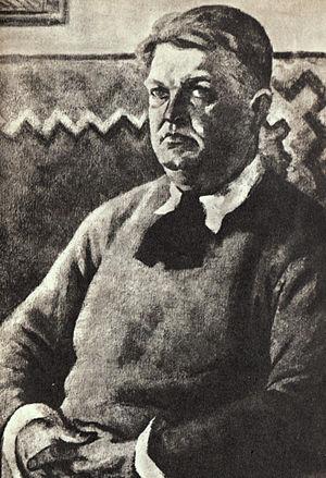 Mihail Sadoveanu - Sadoveanu in 1929, portrait by Ștefan Dimitrescu
