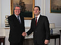 Συνάντηση ΥΠΕΞ Δ. Δρούτσα με Ειδικό Απεσταλμένο ΓΓ ΟΗΕ για το Kυπριακό A. Downer - Meeting of FM D. Droutsas with Special Advisor to UN SG on Cyprus A. Downer (5433405228).jpg