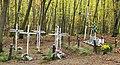 Братська могила воїнів УПА , полеглих у лісі біля с. Королин (червень 1948 р.,символічні хрести) 1.jpg