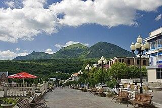 Zheleznovodsk Town in Stavropol Krai, Russia