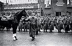 Маршал Советского Союза Л.А. Говоров на Красной площади 7 ноября 1947 года.jpg