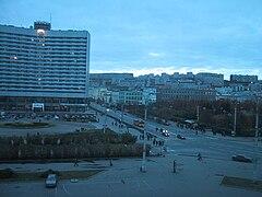ムルマンスク市中心・ピャーチウグローフ