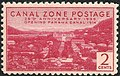 """""""Canal Zone Postage"""" 2 cents - Canal Zone, 1939, 1c and 2c Issues (cropped).jpg"""