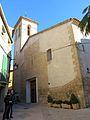 025 Església de la Nativitat (Cabacés), amb la façana de l'antic oratori.JPG