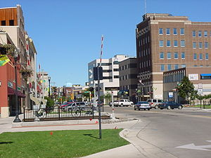 Fargo, North Dakota - Broadway at Main in downtown Fargo