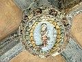 080 Sant Jeroni de la Murtra, galeria nord del claustre, clau de volta.JPG