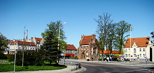Police County - Brick Gothic Chapel (15th century) in The Chrobry Square in The Police Old Town.