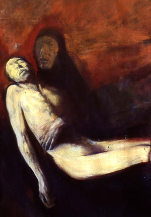 Richard Rappaport - 1964 - Burial of Christ - detail