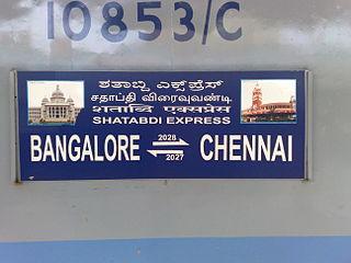 Chennai Central–Bengaluru City Shatabdi Express