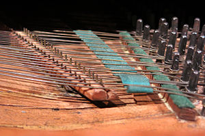 Clavichord - Detail of the Clavichord at Museu de la Música de Barcelona