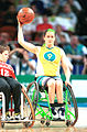 141100 - Wheelchair basketball Liesl Tesch ball - 3b - 2000 Sydney match photo.jpg