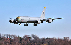 171st Air Refueling Wing - 171st Air Refueling Wing Boeing KC-135T Stratotanker landing at Pittsburgh AGB