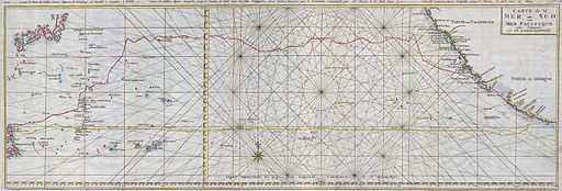 1748 Seale Map of the Pacific Ocean w- Trade Routes from Acapulco to Manila - Geographicus - Pacific-seale-1743