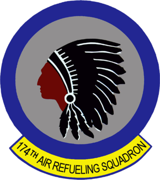 174th Air Refueling Squadron - Image: 174th Air Refueling Squadron Emblem