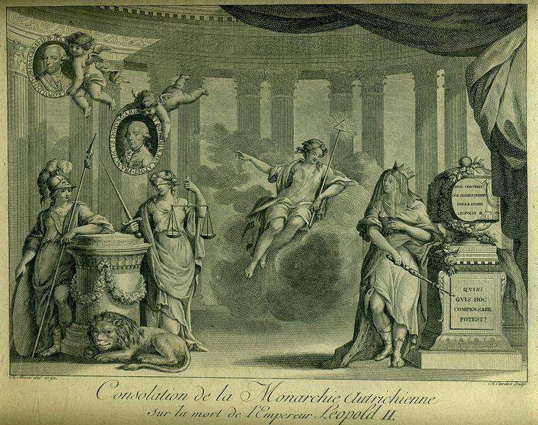 File:1792, dessin d'Antoine Brice gravé par Cardon, Consolation de la Monarchie Autrichienne sur la mort de l'Empereur Léopold II.JPG