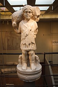 1826 - Byzantine Museum, Athens - Good shepherd (4th century) - Photo by Giovanni Dall'Orto, Nov 12 2009.jpg