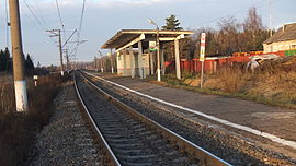 183 km BMO railway platform (west platform, common view from south).JPG
