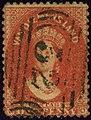 1865ca carmine 1d Van Diemensland oval 52 Yv16aA SG70.jpg