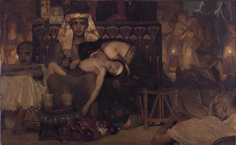 File:1872 Lawrence Alma-Tadema - Death of the Pharaoh Firstborn son.jpg