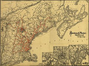 Boston and Maine Corporation - 1898 map