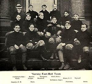 1899 Rutgers Queensmen football team - Image: 1899 Rutgers football team