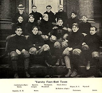1899 Rutgers Queensmen football team - Image: 1899 Rutgers football team