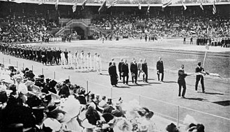 Great Britain at the 1912 Summer Olympics - The team of Great Britain at the opening ceremony.