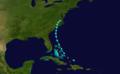 1916 Atlantic tropical storm 9 track.png