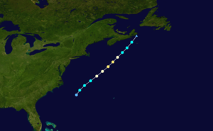 1919 Atlantic hurricane season - Image: 1919 Atlantic hurricane 3 track