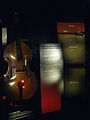 1930s double bass, 1960-70s Marshall amp - Instruments seeking amplification exhibit, EMP Museum.jpg