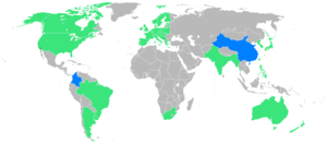 1932 Summer Olympics - participants (blue=first-time)