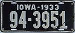 1933 Iowa passenger license plate.jpg