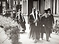 1936 HRH Prince Saud being received by Snouck Hurgronje (right) at Leiden University 0.jpg