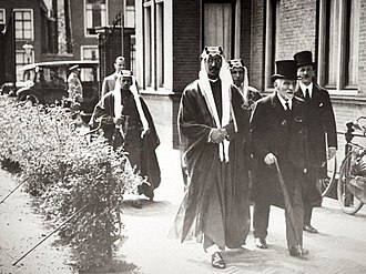 Saud of Saudi Arabia - Prince Saud being received by Snouck Hurgronje (right) at Leiden University in 1936
