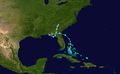1947 Atlantic tropical storm 7 track.png