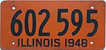 1948 Illinois passenger license plate.jpg