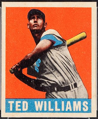 Ted Williams - 1948 baseball card