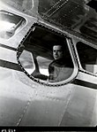 1949. Cessna 195 with modified plexiglass door for better visibility during aerial detection surveys. Portland, OR. (33463444775).jpg