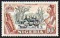 1953 Nigeria 10 Shilling stamp.jpg