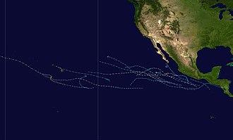 1988 Pacific hurricane season - Image: 1988 Pacific hurricane season summary