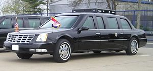 Limousine of President George W. Bush in Zagre...