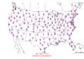 2006-04-08 Max-min Temperature Map NOAA.png