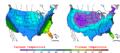 2007-01-17 Color Max-min Temperature Map NOAA.png