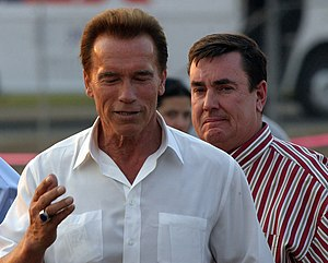 Arnold Schwarzenegger and Assemblyman Joel And...